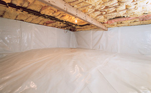 Crawl Space Moisture Barrier After in Ashburn