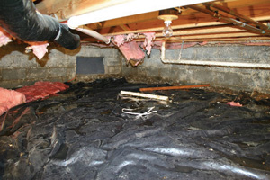 Crawl Space Repair Before in Sterling