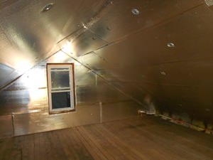 A Sterling attic with SuperAttic installed.