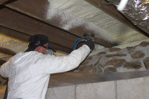 Spray Foam in the crawl space in Leesburg